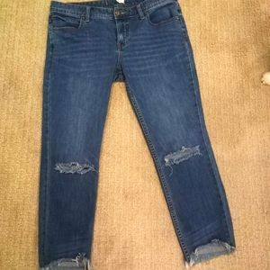 Free People crop jeans - distressed size 31